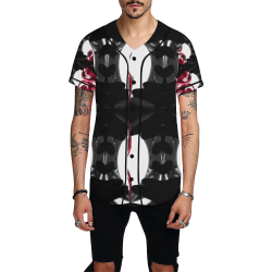 5000TRYtwo2 106 dEEP mONSTER  60 All Over Print Baseball Jersey for Men (Model T50)