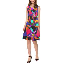 Abstract Design S 2020 Sleeveless Splicing Shift Dress(Model D17)