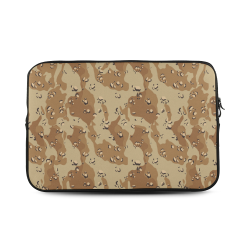 Vintage Desert Brown Camouflage Custom Sleeve for Laptop 17""