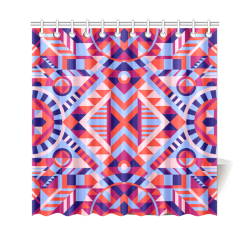 "Modern Geometric Pattern Shower Curtain 69""x70"""