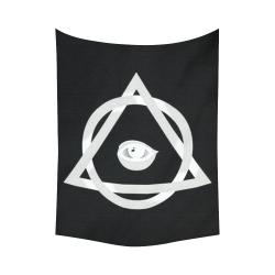 "Illuminati Power Symbol Blacklight Magick Cotton Linen Wall Tapestry 60""x 80"""