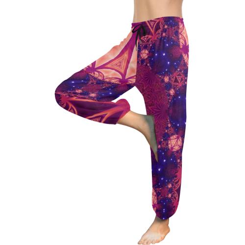 Moonlit Colourful Tropics Women's All Over Print Harem Pants (Model L18)