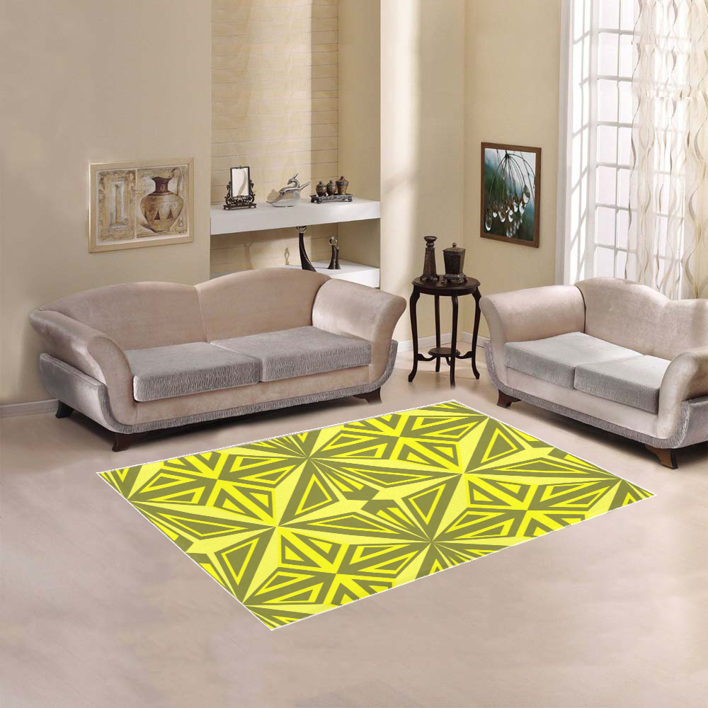 Abstract triangles Area Rug 5'3''x4'
