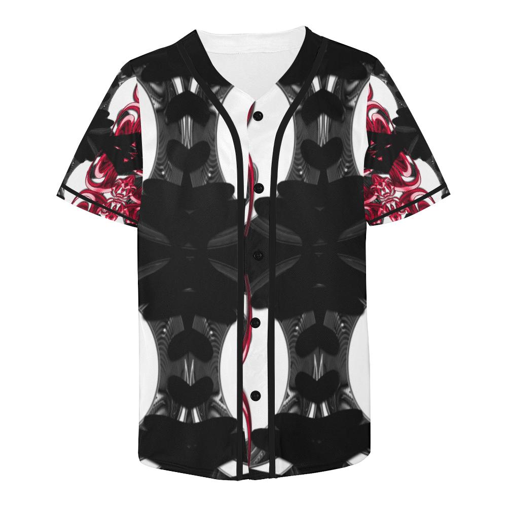 5000TRYtwo2 106 dEEP mONSTER  60 All Over Print Baseball Jersey for Men (Model T50)