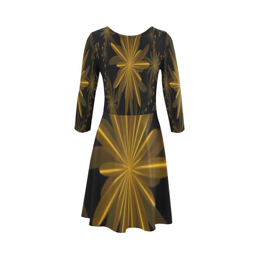 Fractal flash 3/4 Sleeve Sundress (D23)