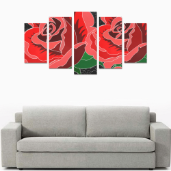 Rose Canvas Print Sets A (No Frame)