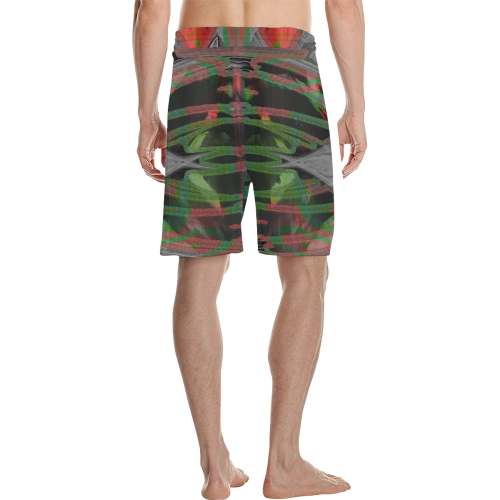 Green Cage Crew Men's All Over Print Casual Shorts (Model L23)