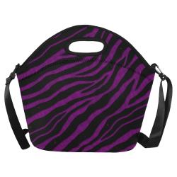 Ripped SpaceTime Stripes - Purple Neoprene Lunch Bag/Large (Model 1669)