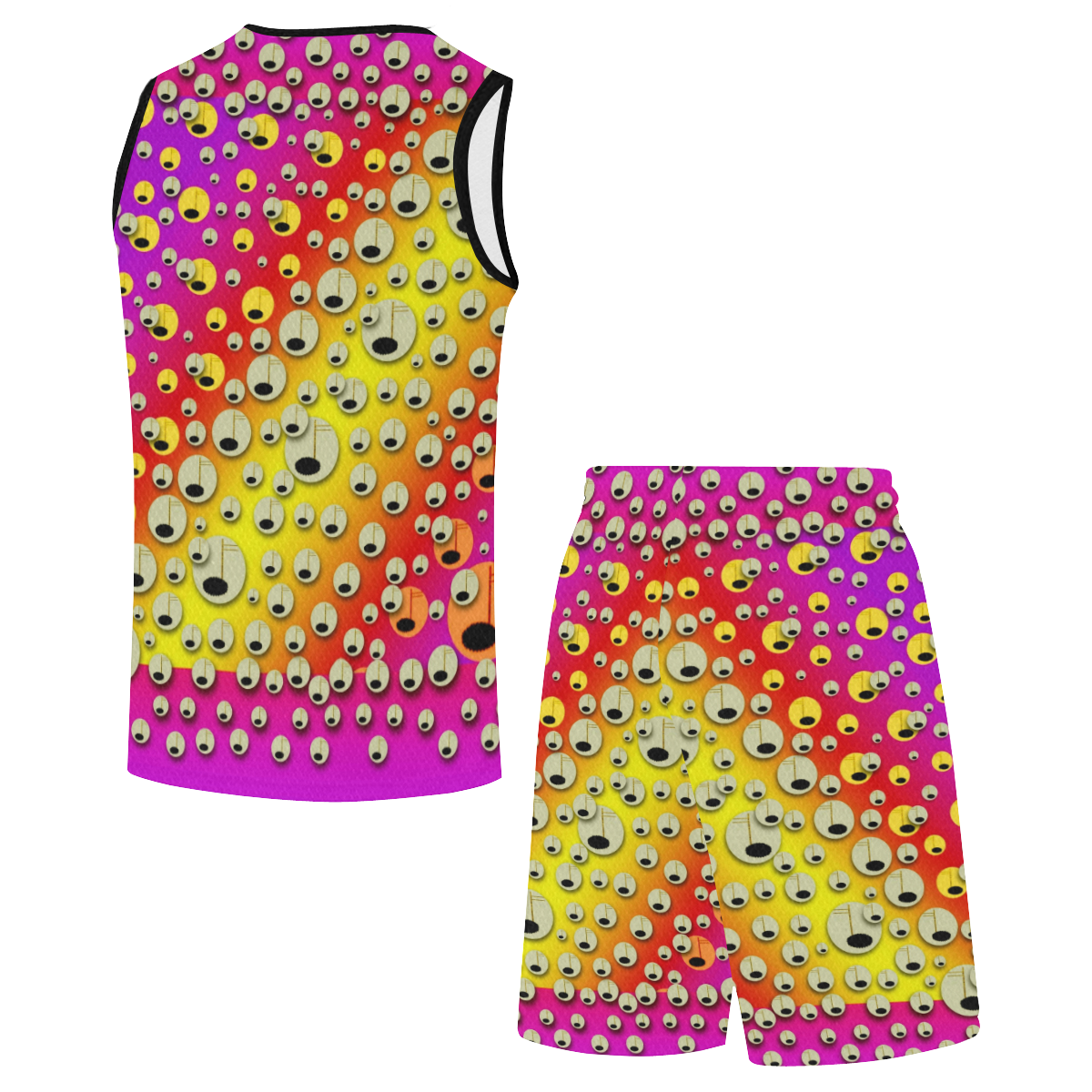 festive music tribute in rainbows All Over Print Basketball Uniform