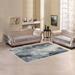 Ayumi Navy, Ivory, Charcoal, Beige Abstract Area Rug 5'x3'3''