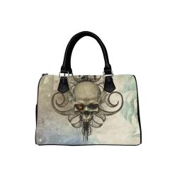 Creepy skull, vintage background Boston Handbag (Model 1621)