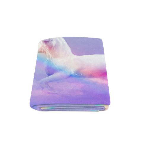 "Unicorn and Rainbow Blanket 58""x80"""