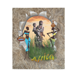 """African woman Cotton Linen Wall Tapestry 51""""x 60"""""""