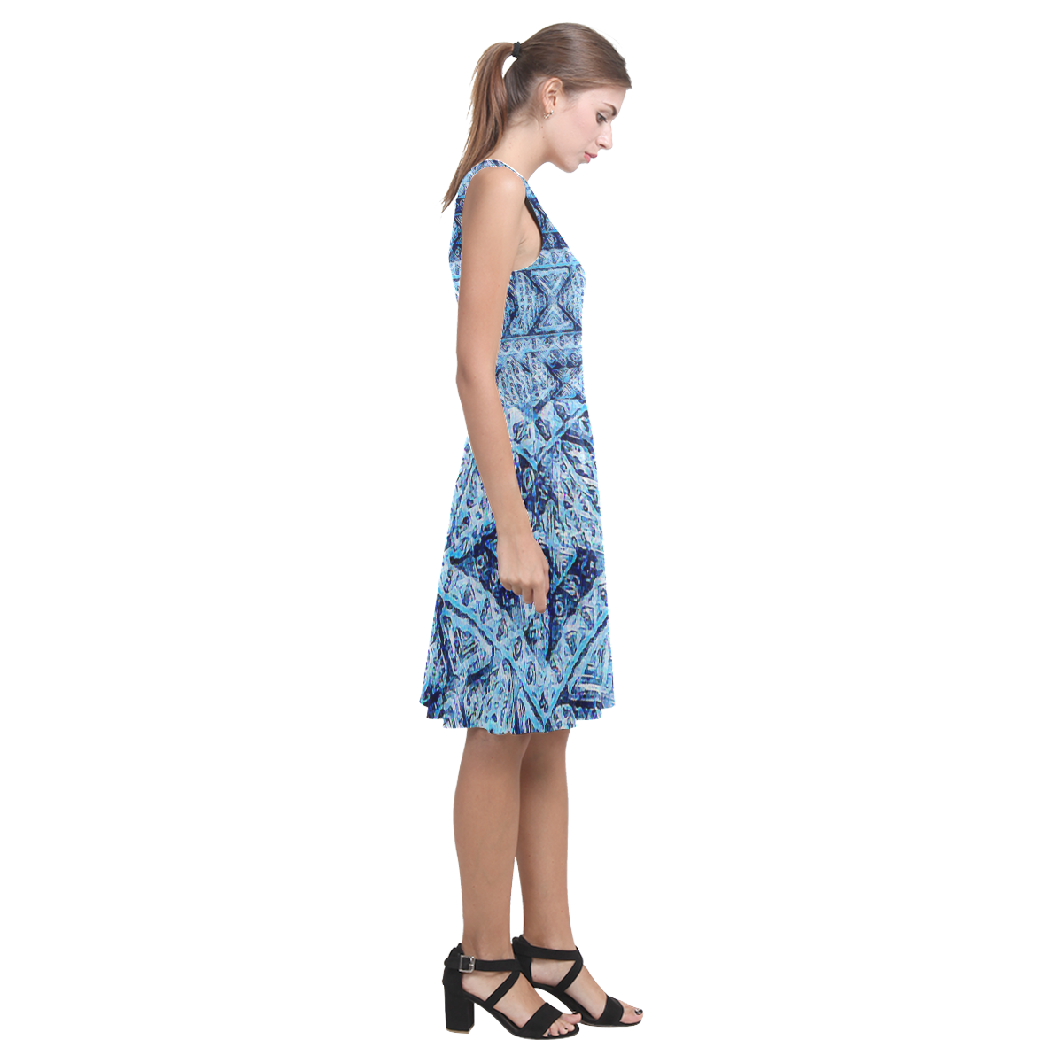 African Pattern2 Atalanta Casual Sundress(Model D04)