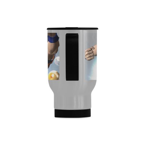 Goku Warm It Travel Mug (Silver) (14 Oz)