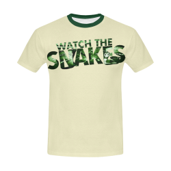watch the snakes All Over Print T-Shirt for Men/Large Size (USA Size) Model T40)