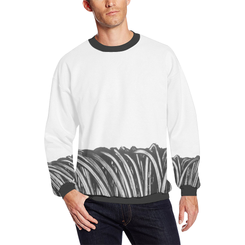 rope trans Men's Oversized Fleece Crew Sweatshirt (Model H18)