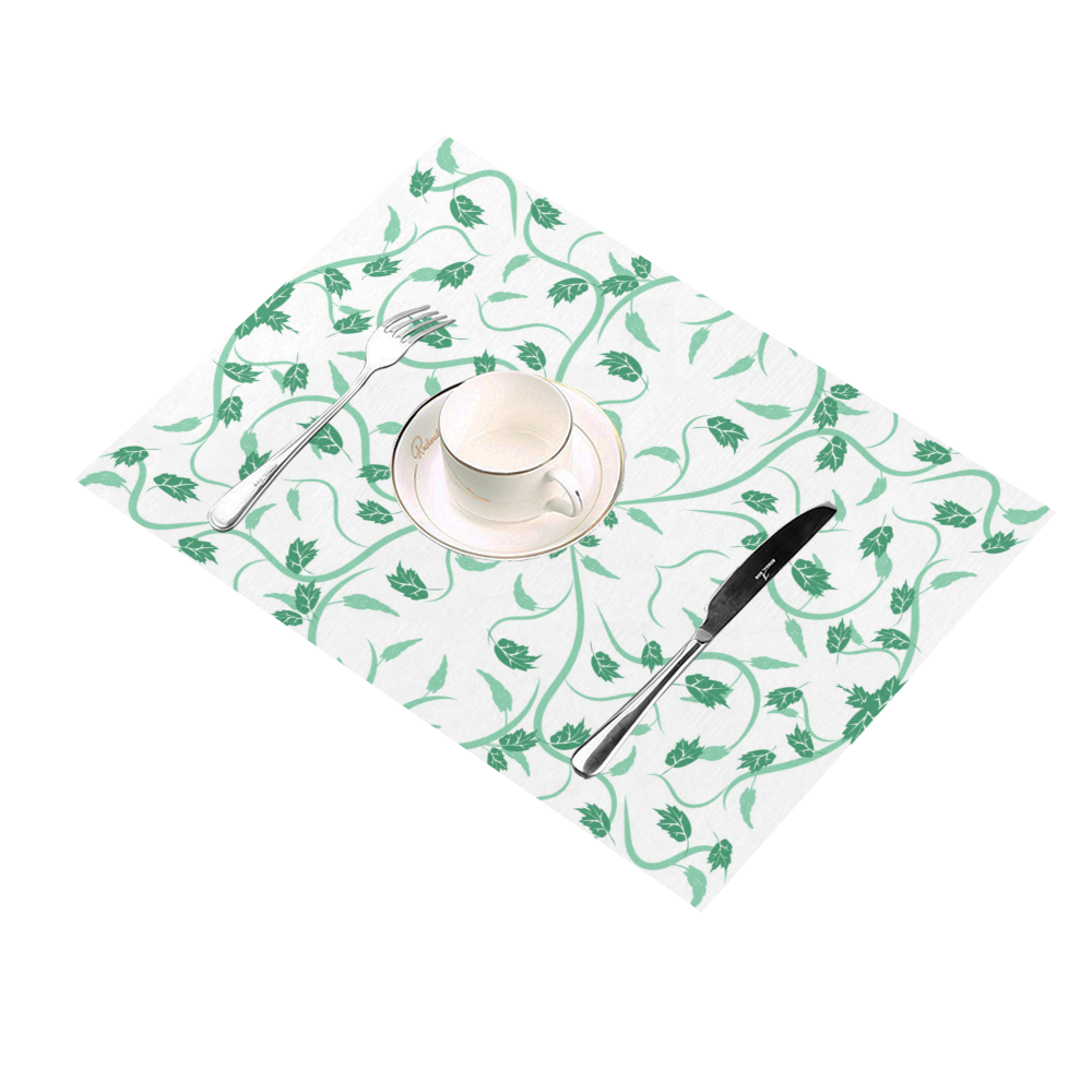 floral damask Placemat 14'' x 19'' (Two Pieces)