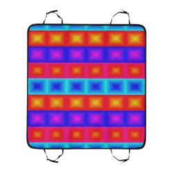 Red yellow blue orange multicolored multiple squares New Pet Car Seat 55''x58''