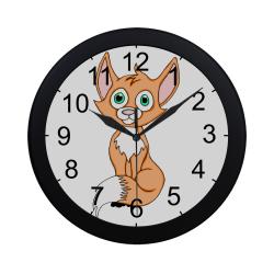 Foxy Roxy Circular Plastic Wall clock