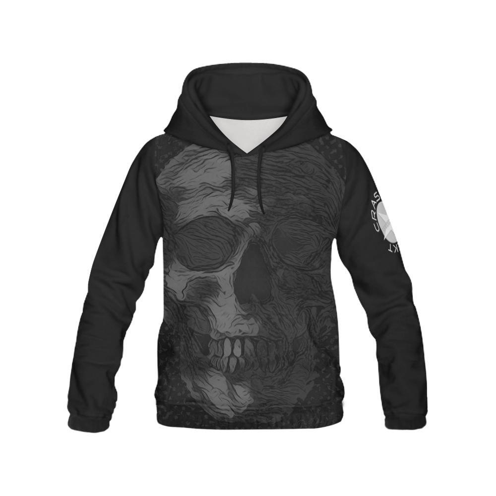 SKULL ART CRASSCO III All Over Print Hoodie for Women (USA Size) (Model H13)