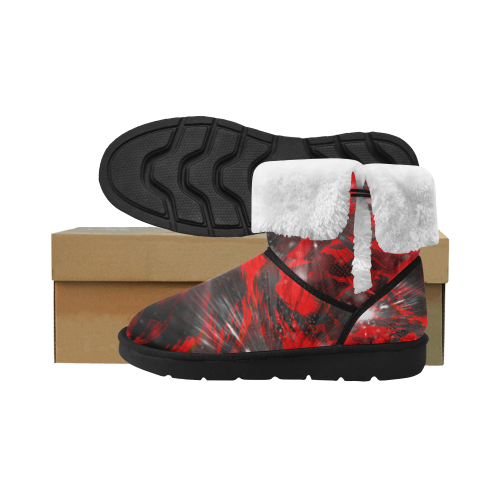 Red Flow Crew Unisex Single Button Snow Boots (Model 051)