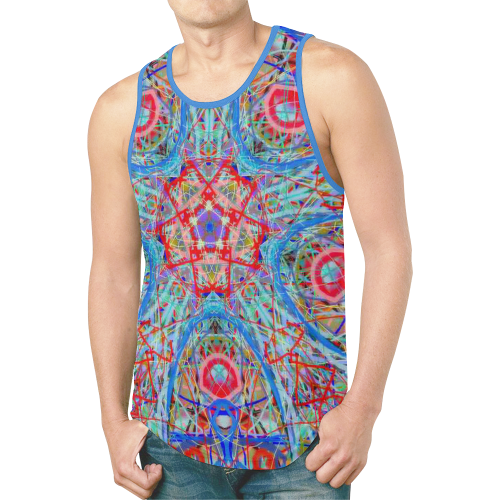 Thleudron Timeless New All Over Print Tank Top for Men (Model T46)