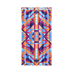 "Modern Geometric Pattern New Window Curtain 50"" x 96""(One Piece)"