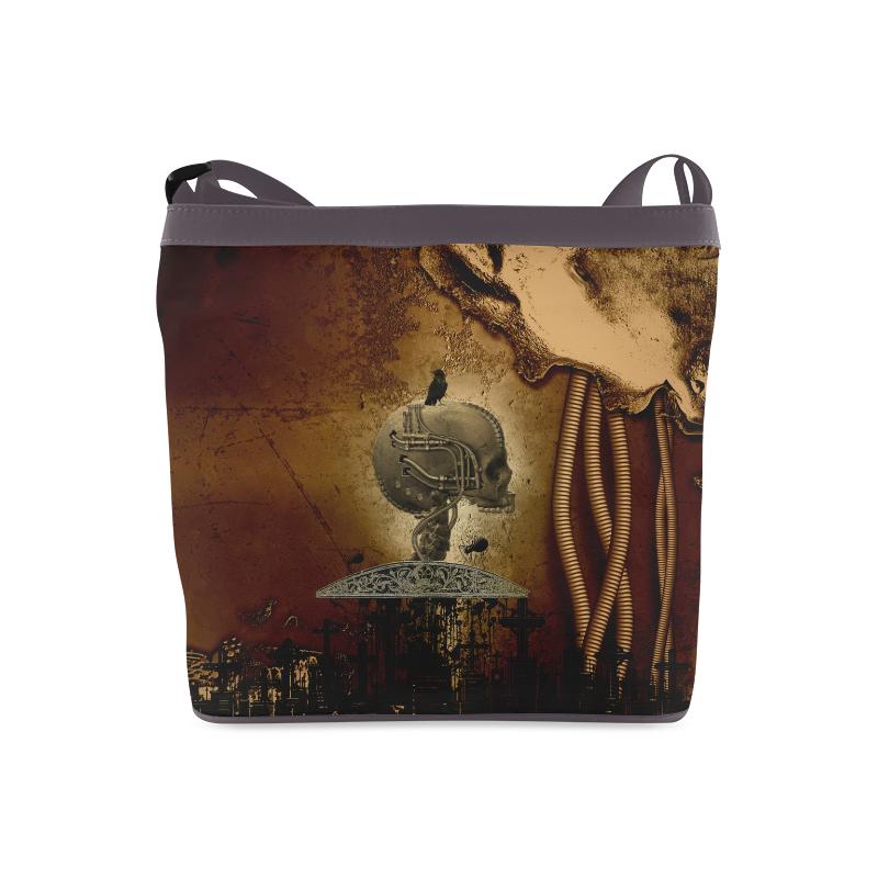 Mechanical skull Crossbody Bags (Model 1613)
