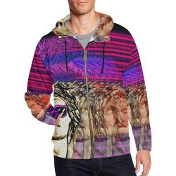 Vaporizen All Over Print Full Zip Hoodie for Men (Model H14)