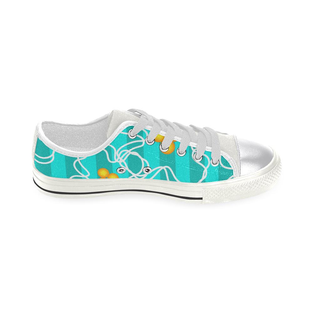 Flowers Women's Classic Canvas Shoes (Model 018)