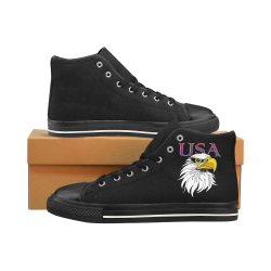 USA Eagle ss Men's Classic High Top Canvas Shoes /Large Size (Model 017)