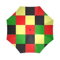 Afrocentric Checkered Foldable Umbrella (Model U01)