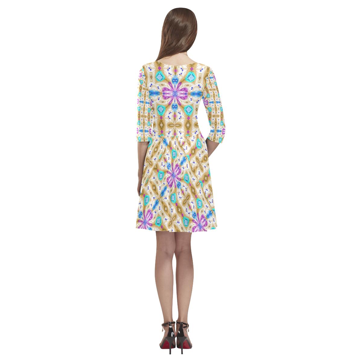 McKenzie's Offroading Adventure Tethys Half-Sleeve Skater Dress(Model D20)