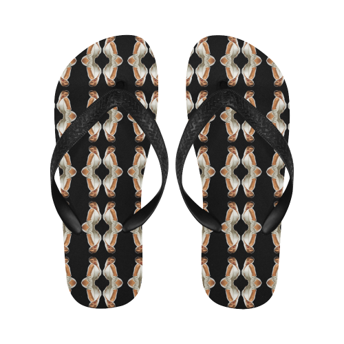 kylie pattern 2a Flip Flops for Men/Women (Model 040)