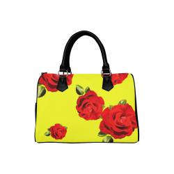 Fairlings Delight's Floral Luxury Collection- Red Rose Handbag 53086b18 Boston Handbag (Model 1621)