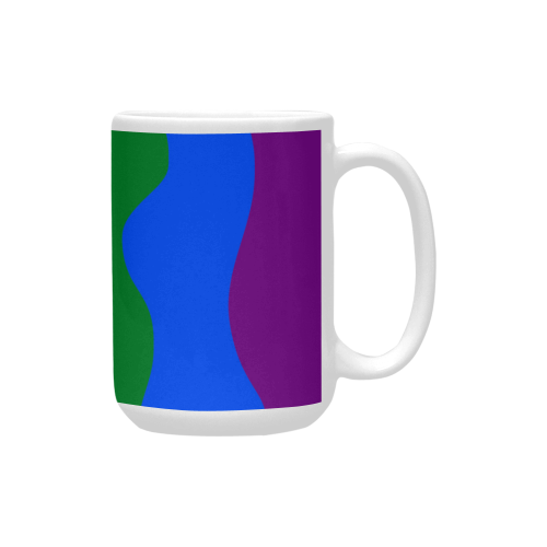 Gay Pride - Rainbow Flag Waves Stripes 2 Custom Ceramic Mug (15OZ)