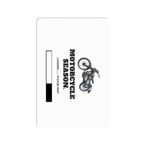 "Motorcycle Season Loading Please Wait Doormat 24""x16"""