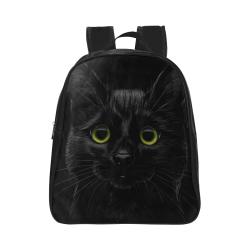 Black Cat School Backpack (Model 1601)(Small)
