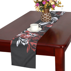 Gunpowder & Brilliant White Table Runner 16x72 inch