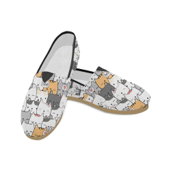 Cute Cat Shoes, Kitten Cartoon Unisex Casual Shoes (Model 004)