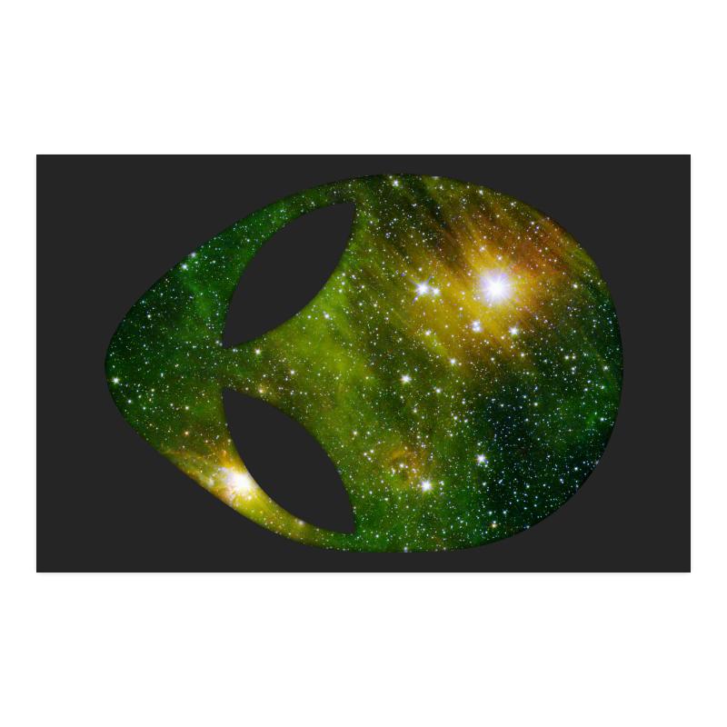 "Cosmic Alien - Galaxy - Stars Poster 23""x36"""