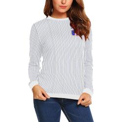 No. 1 Vegan All Over Print Crewneck Sweatshirt for Women (Model H18)