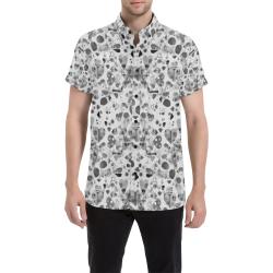 Love Pattern by K.Merske Men's All Over Print Short Sleeve Shirt (Model T53)