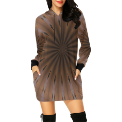 POINTZ All Over Print Hoodie Mini Dress (Model H27)