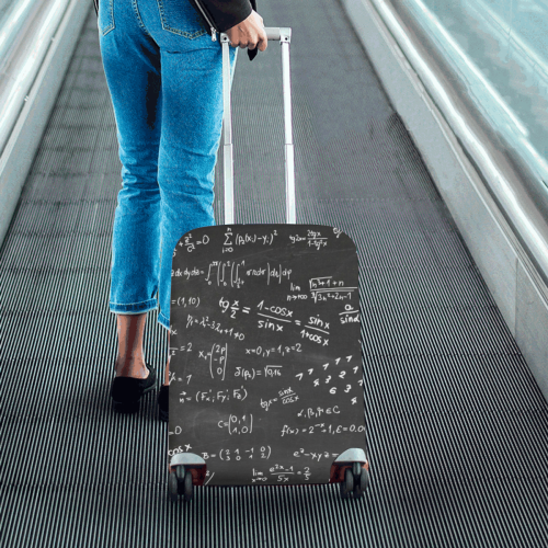 """Mathematics Formulas Equations Numbers Luggage Cover/Small 18""""-21"""""""