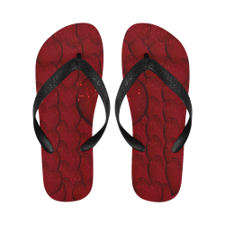 Sangria Hearts Flip Flops for Men/Women (Model 040)