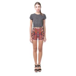 Azerbaijan Pattern Briseis Skinny Shorts (Model L04)