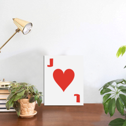 """Playing Card Jack of Hearts Photo Panel for Tabletop Display 6""""x8"""""""