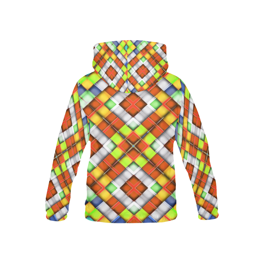 colorful geometric pattern All Over Print Hoodie for Kid (USA Size) (Model H13)